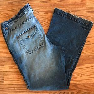 Torrid High Rise Light Wash Flare Jeans